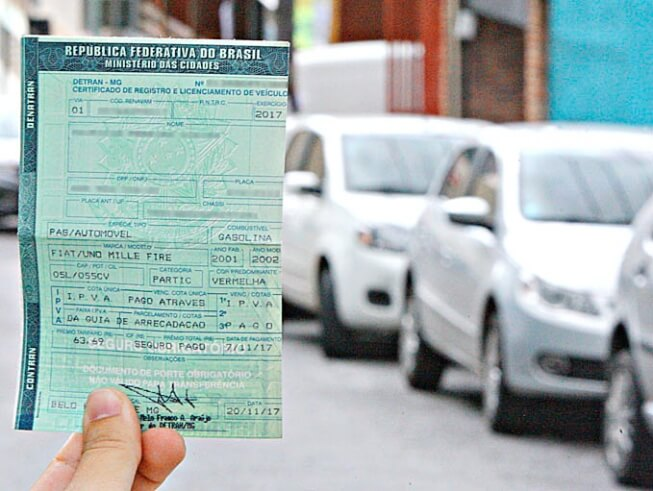 Informações sobre o pagamento do Licenciamento